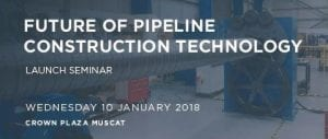 Future of pipeline construction technology seminar 2018